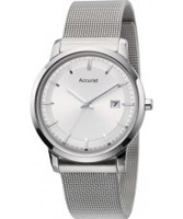 Buy Accurist Mens Core Slim All Silver Watch online