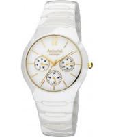 Buy Accurist Mens White Ceramic Watch online