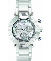 Buy Versace Reve White Ceramic Chrono Watch online