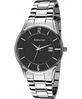 Buy Accurist Mens Black Dial Analogue Watch online