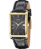 Buy Accurist Mens Gold Black Watch online