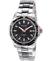 Buy Accurist Mens Black Silver Watch online