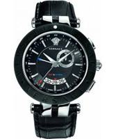 Buy Versace Mens V-Race GMT Alarm Black Watch online