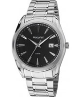 Buy Accurist Mens Black and Silver Tone Bracelet Watch online