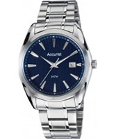 Buy Accurist Mens Blue and Silver Tone Bracelet Watch online