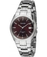 Buy Accurist Mens Brown Silver Watch online