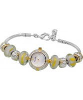 Buy Accurist Ladies Core Yellow Charmed All Silver Stones Watch online