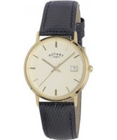 Buy Rotary Mens 9Ct Gold Case Watch online