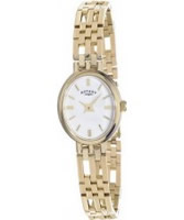 Buy Rotary Ladies White Dial 9Ct Gold Watch online