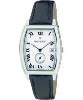 Buy Dreyfuss and Co Mens Light Silver Stamped Black Watch online