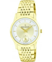 Buy Dreyfuss and Co Mens Sapphire Glass Gold Steel Watch online