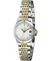 Buy Dreyfuss and Co Ladies White Steel Gold Watch online