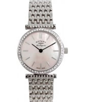 Buy Rotary Ladies Les Originales Pink Mop Dial Crystals Watch online