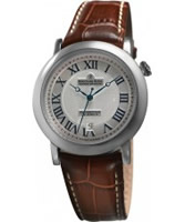 Buy Dreyfuss and Co Mens Silver Stamped Brown Watch online