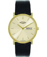 Buy Rotary Mens Gold Plated Champagne Watch online