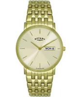 Buy Rotary Mens Champagne Gold Plated Watch online