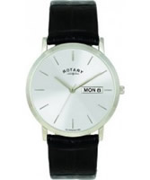 Buy Rotary Mens White Black Watch online