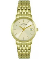 Buy Rotary Ladies Gold Plated Champagne Watch online