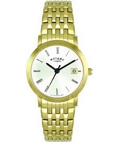 Buy Rotary Ladies Gold Plated White Dial Bracelet Watch online