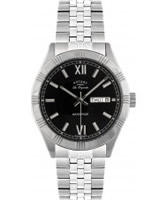 Buy Rotary Mens Les Originales Black Steel Watch online