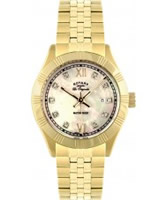 Buy Rotary Ladies Les Originales Crystals Mop Dial Gold Plated Watch online