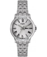Buy Rotary Mens Silver Dial White Bracelet Watch online