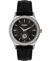 Buy Rotary Ladies Stone Set Black Watch online