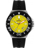 Buy Rotary Mens Aquaspeed Yellow Dial Black Rubber Strap Watch online