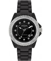 Buy Rotary Ceramique Black Stone Set Watch online