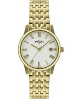 Buy Rotary Mens Gold Plated Watch online