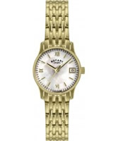 Buy Rotary Ladies Pearl Gold Plated Watch online