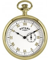Buy Rotary Mens Gold Plated Pocket Watch online