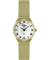 Buy Rotary Ladies Ultra Slim Gold Plated Watch online