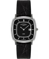Buy Rotary Mens Ultra Slim Black Watch online
