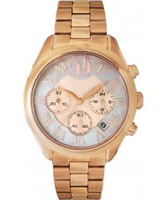 Buy Project D Ladies Chronograph Rose Gold Watch online