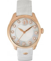 Buy Project D Ladies White Rose Gold Watch online