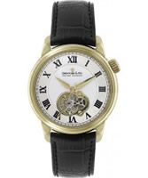 Buy Dreyfuss and Co Mens Gold and Black Open Heart Automatic Watch online