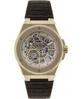 Buy Dreyfuss and Co Mens Skeleton Rose Gold Automatic Watch online