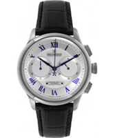 Buy Dreyfuss and Co Mens Chronograph Black Leather Strap Watch online