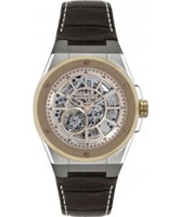 Buy Dreyfuss and Co Mens Skeleton Brown Automatic Watch online