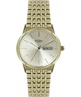 Buy Rotary Mens Gold Steel Bracelet Watch online