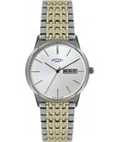 Buy Rotary Mens Two Tone Steel Bracelet Watch online