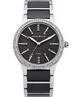 Buy Karen Millen Ladies Steel and Black Ceramic Bracelet Watch online