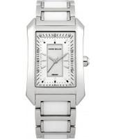 Buy Karen Millen Ladies Steel and White Ceramic Watch online