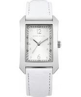 Buy Karen Millen Ladies White Leather Strap Watch online