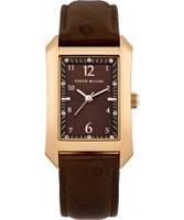 Buy Karen Millen Ladies Brown Leather Strap Watch online