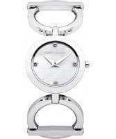 Buy Karen Millen Ladies Silver Stone Set Watch online