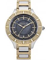 Buy Karen Millen Ladies Two Tone Watch with Crystals online