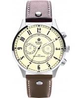 Buy Royal London Mens Vintage Brown Chronograph Watch online