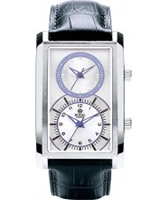 Buy Royal London Mens Dual Time Silver and Black Watch online